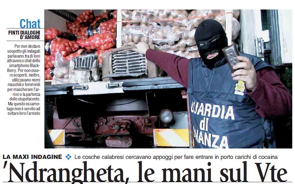 La 'Ndrangheta e i traffici di droga