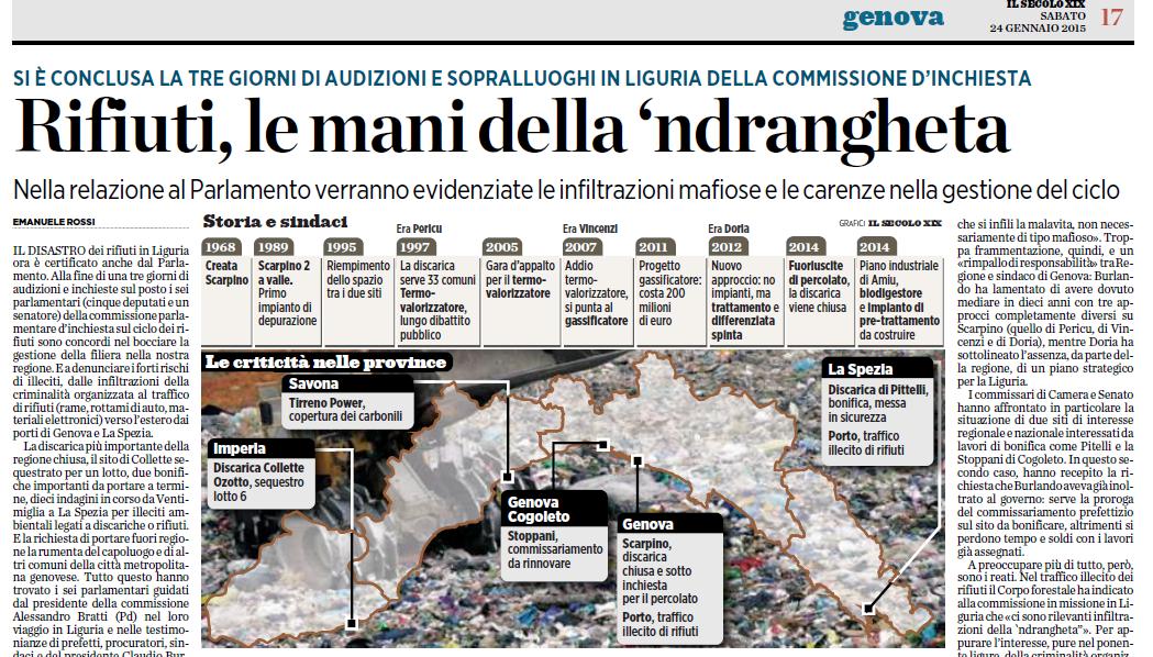 La 'Ndrangheta e il controllo dei rifiuti