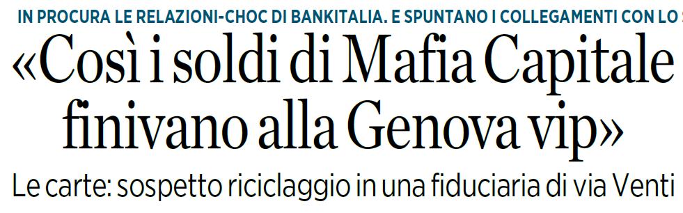 """""""Genova Vip"""" e i soldi di """"Mafia Capitale"""""""