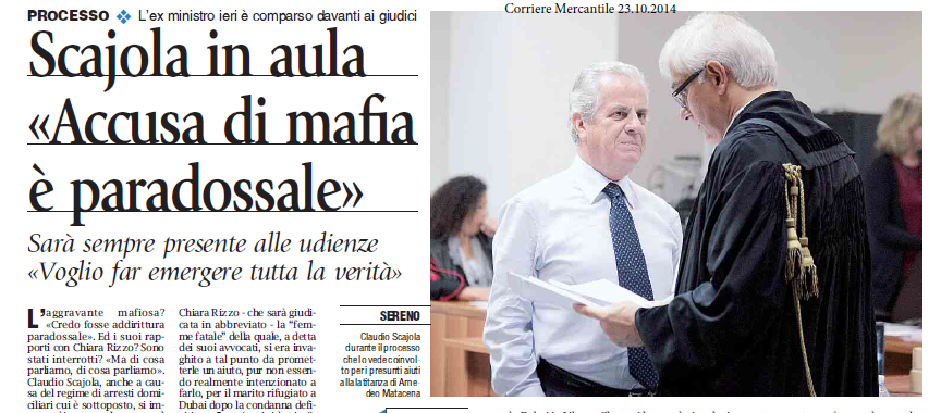 Scajola e l'accusa di mafia