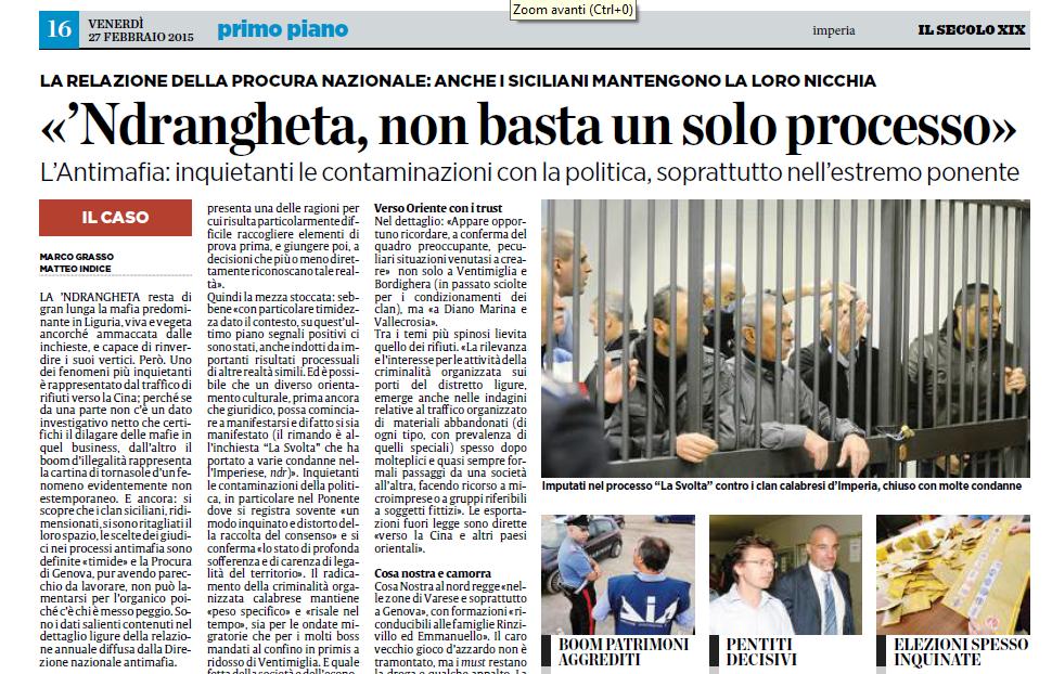 """La 'Ndrangheta e il processo """"La Svolta"""""""