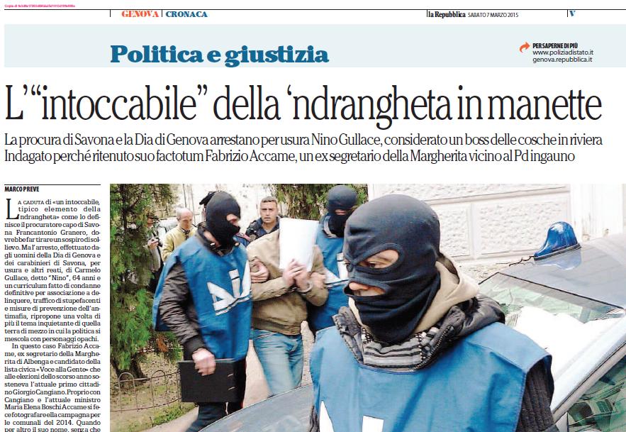 L'arresto del Boss Carmelo Gullace