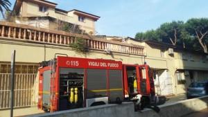L'incendio a villa Fameli