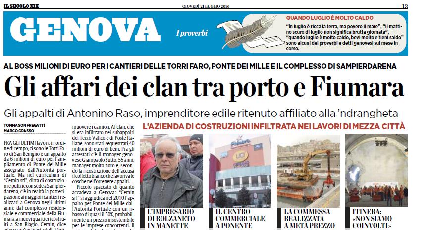Raso, i clan e gli affari tra porto e Fiumara