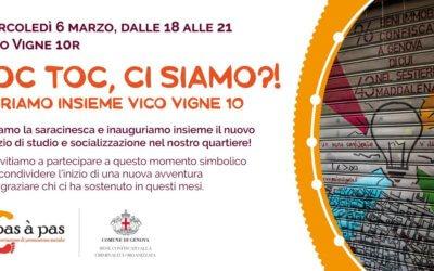 TOC TOC: inaugura Vico Vigne 10r, bene confiscato restituito ai genovesi