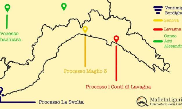 Infografica – La 'ndrangheta fra Liguria e Basso Piemonte