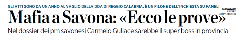 La Mafia a Savona