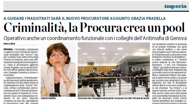 Grazia Pradella e il pool anti-criminalità