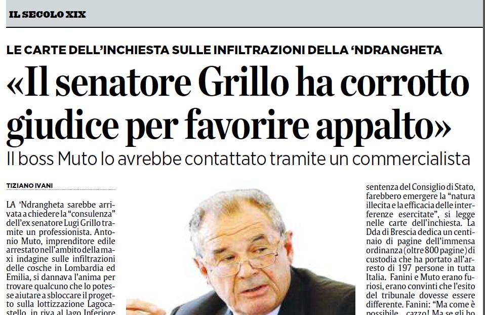 La posizione di Luigi Grillo