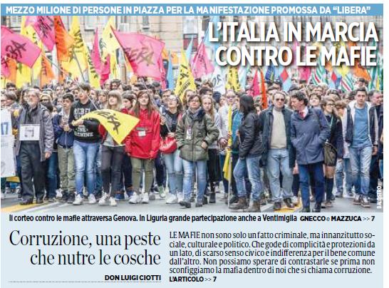 21 Marzo, l'Italia in marcia contro le mafie