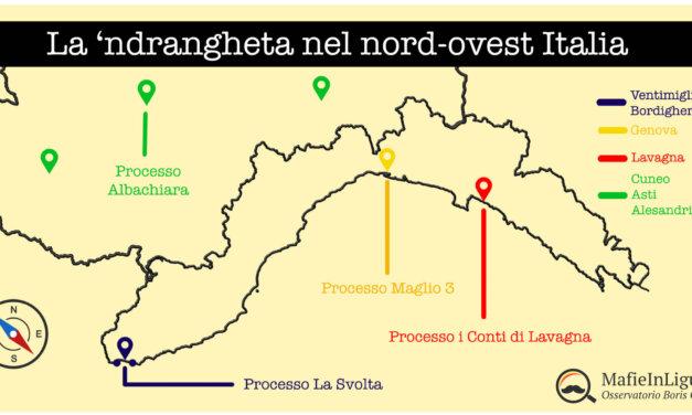 Il mosaico della 'ndrangheta fra Liguria e Basso Piemonte