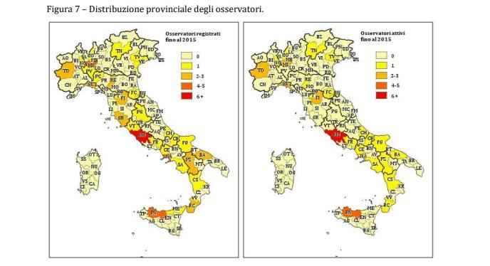 Gli osservatori antimafia in Italia